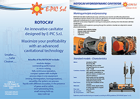 Brochure ROTOCAV Cavitatore idrodinamico