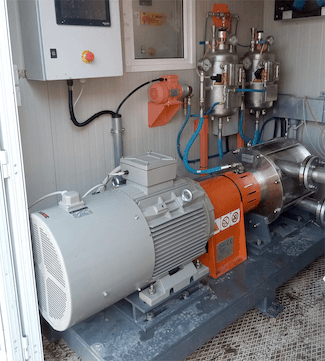 ROTOCAV hydrodynamic cavitator installed in a pig feed plant
