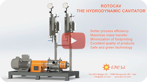 E-PIC S.r.l. - ROTOCAV hydrodynamischer Kavitator