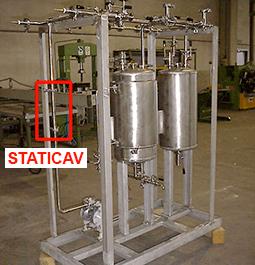 STATICAV statischer hydrodynamischer Kavitator - Inline-Installation