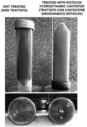 Cavitazione idrodinamica per il trattamento di pigmenti, vernici e rivestimenti