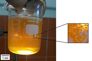 Micro bubbles of air in oil generated by the ROTOCAV hydrodynamic cavitator